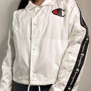 White Champion Windbreaker Jacket